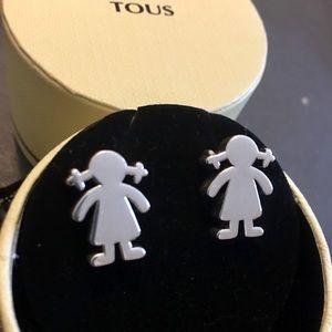 TOUS silver big girl motives earrings. Pre-loved